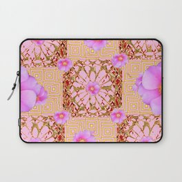 Delicate French Style Fuchsia Pink Wild Rose Gold Jewelry Abstract Laptop Sleeve