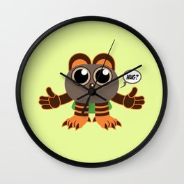 Hug? - Every creature needs love #012 Wall Clock