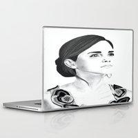 emma watson Laptop & iPad Skins featuring Emma Watson by Moira Sweeney