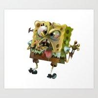 spongebob Art Prints featuring SpongeBob SquarePants by Tayfun Sezer