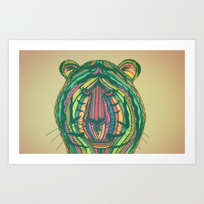 Panthera Tigris Art Print