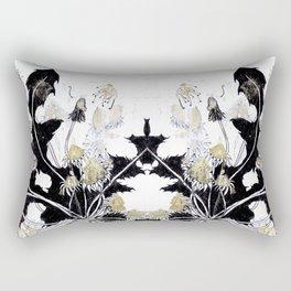 Gold Dandelions Rectangular Pillow