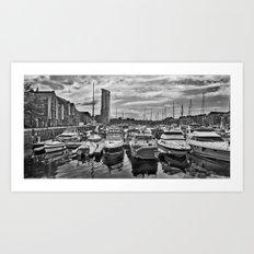 A Trip To The Marina. Art Print