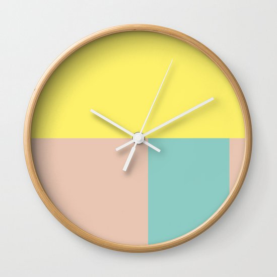 Pastel collection I Wall Clock