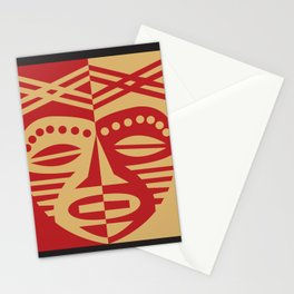 African Tribal Mask No. 3 Stationery Cards