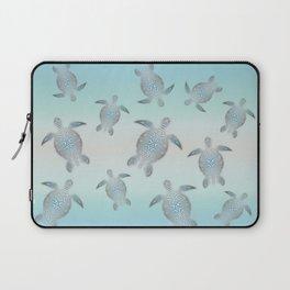 Silver Sea Turtles Laptop Sleeve