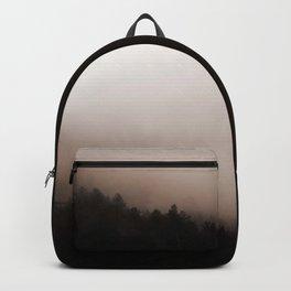 Minimal Landscape Foggy Rocks Backpack
