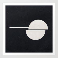 Instant Geometry #007 Black Art Print