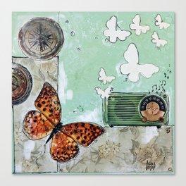 Grandpa's Radio - madewithunicorndust by Natasha Dahdaleh Canvas Print