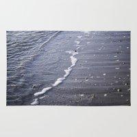 salt water Area & Throw Rugs featuring Salt water by Emelie Johansson