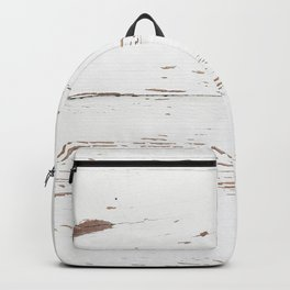 Vintage White Wood Backpack