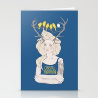 foo fighters Stationery Cards featuring Crystal Fighters by Anna Diricheva