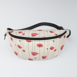 Poppies Time Fanny Pack