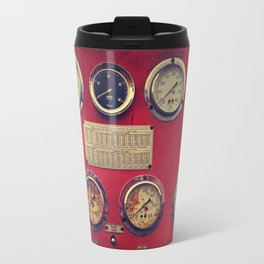 Old Gauges on a Fire Truck Travel Mug