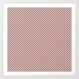 Canyon Rose and White Polka Dots Art Print