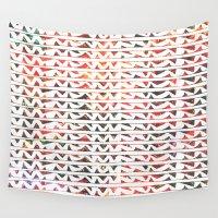 teeth Wall Tapestries featuring Floral Teeth by Kara Hayley