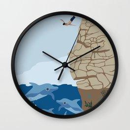 Cliff Diving Wall Clock