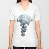 india V-neck T-shirts featuring Secret Streets II by David Fleck