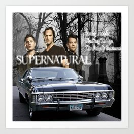 Supernatural the Winchester Boys Art Print