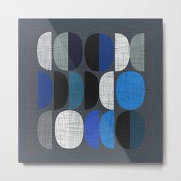 Mo Moons Blue Metal Print