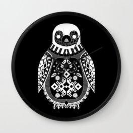 Black Penguin. Wall Clock