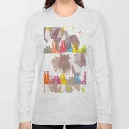 """""""the wolf in the town"""" Long Sleeve T-shirt"""