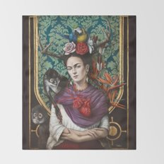 Frida kahlo Throw Blanket