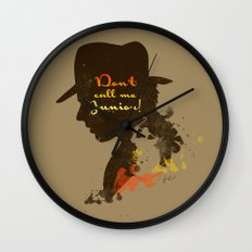 Don't call me Junior! – Indiana Jones Silhouette Quote Wall Clock
