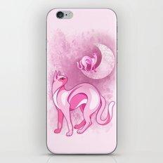 Pink Cat Mood iPhone Skin
