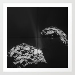 Rosetta Comet Fires Its Jets Art Print