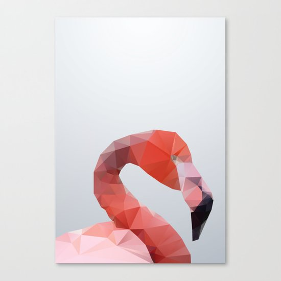 Geometrical - Flamingo Canvas Print