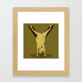 Monogram Y Pony Framed Art Print