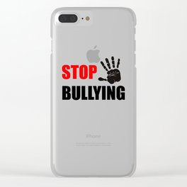 STOP BULLYING Clear iPhone Case