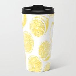 Hand drawn lemon pattern Travel Mug