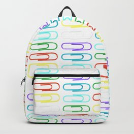 Paper Clips Pattern Backpack