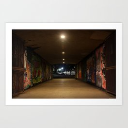 Graffiti Passage Art Print