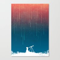 rain Canvas Prints featuring Meteor Rain (light version) by Picomodi