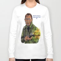 skyfall Long Sleeve T-shirts featuring Skyfall 007 by AdrockHoward