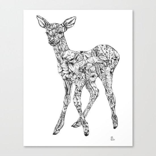 Leafy Deer Canvas Print