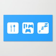 Eat. Game. Sleep Canvas Print
