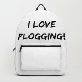 I love Plogging! Minimalist Typography Backpack