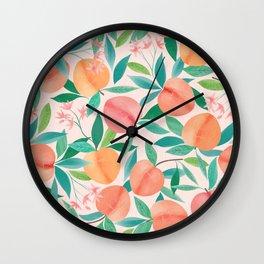 Just Peachy Peachy Clean Wall Clock