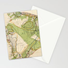 Vintage Map of Hawaii Island (1906) Stationery Cards