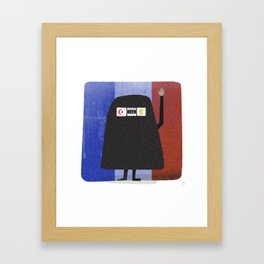 Burqa Ban - Luck be a Lady Tonight Framed Art Print