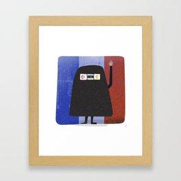 Burqa Ban - Luck be a Lady Tonight Framed Art Print