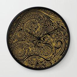 Golden spiral pattern Wall Clock