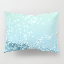 Seafoam Aqua Ocean MERMAID Girls Glitter #3 #shiny #decor #art #society6 Pillow Sham