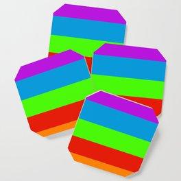 Fluorescent Rainbow |7 Colours Coaster