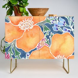 Masked Flora Collection Poppies Credenza