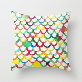 COLOR SCALES Throw Pillow